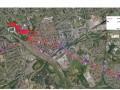 Plan topo du projet de tramway Henin-Lens