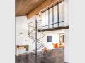 Escalier en metalhelicoidal