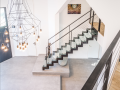 Escalier metal et verre
