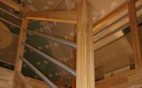 escalier mixte bois inox