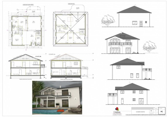 Plans et permis de construire plans dessins limoges for Plans et dessins de construction