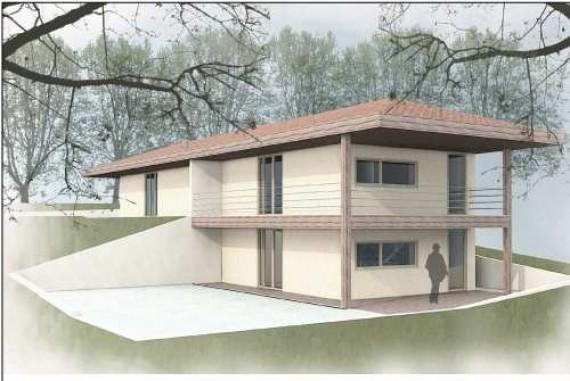 Maison ossature bois et béton de chanvre projeté Haute Garonne # Maison Bois Et Beton