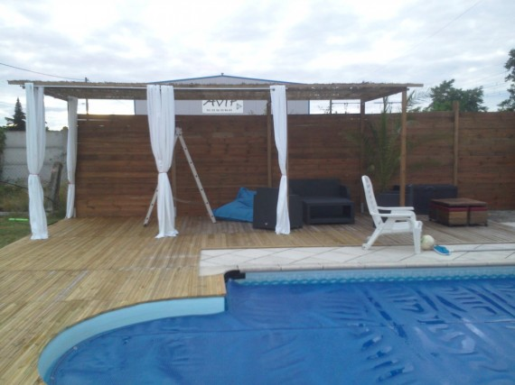 creation et pose de terrasse bois avec pergola arbanats. Black Bedroom Furniture Sets. Home Design Ideas