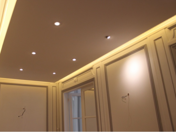 Profil l pour plafond d croch eclairage led 75 paris for Materiel plafond suspendu