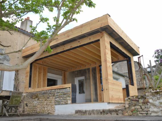 extension maison individuelle r alisation de chantiers louin. Black Bedroom Furniture Sets. Home Design Ideas